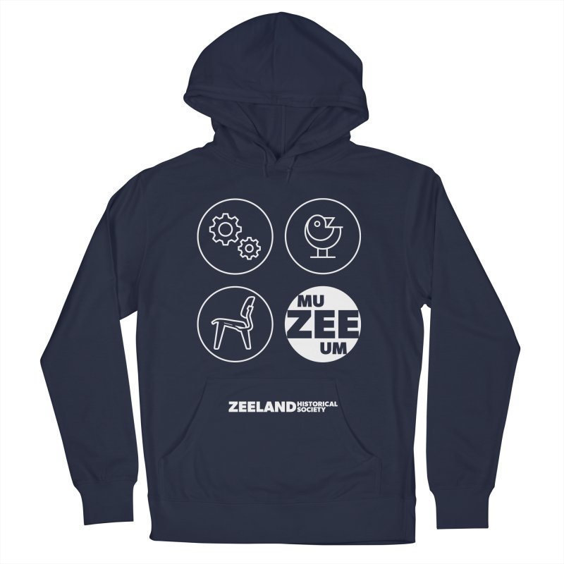 MU-ZEE-UM circles (reversed) Men's French Terry Pullover Hoody by Zeeland Historical Society's Online Store