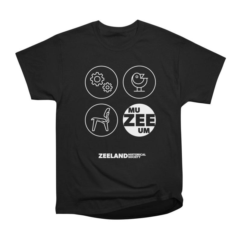 MU-ZEE-UM circles (reversed) Women's Heavyweight Unisex T-Shirt by Zeeland Historical Society's Online Store