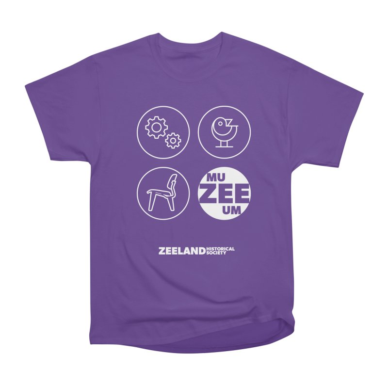 MU-ZEE-UM circles (reversed) Men's Heavyweight T-Shirt by Zeeland Historical Society's Online Store