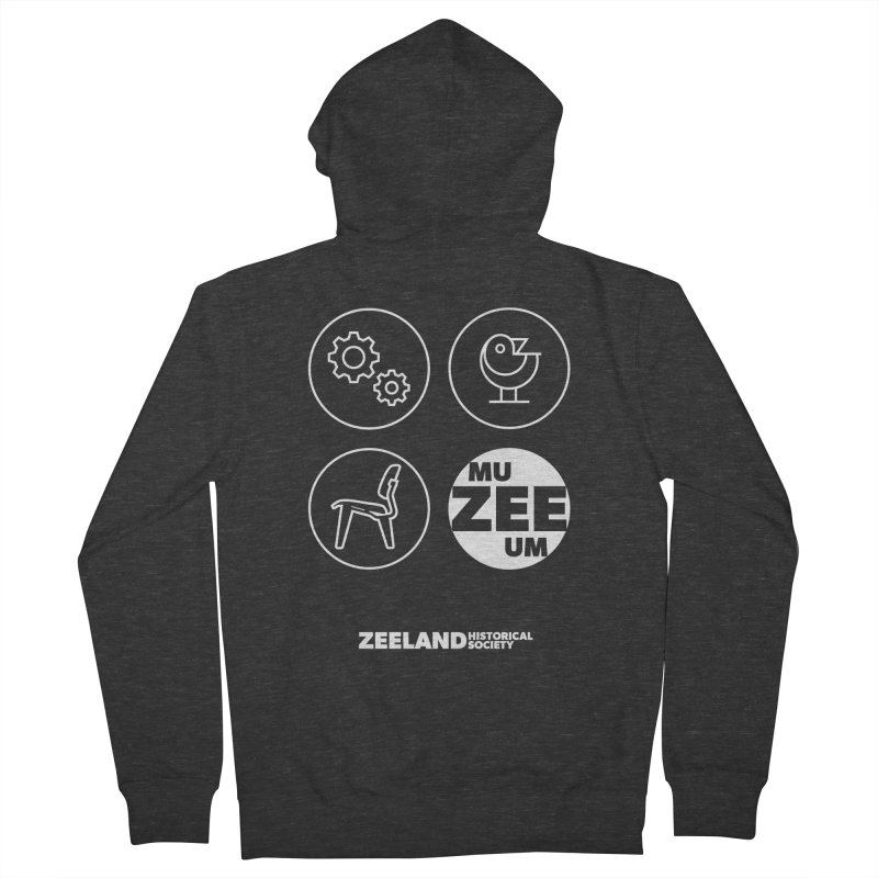MU-ZEE-UM circles (reversed) Women's French Terry Zip-Up Hoody by Zeeland Historical Society's Online Store