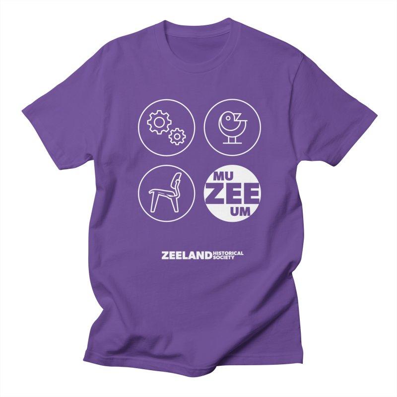 MU-ZEE-UM circles (reversed) Men's Regular T-Shirt by Zeeland Historical Society's Online Store