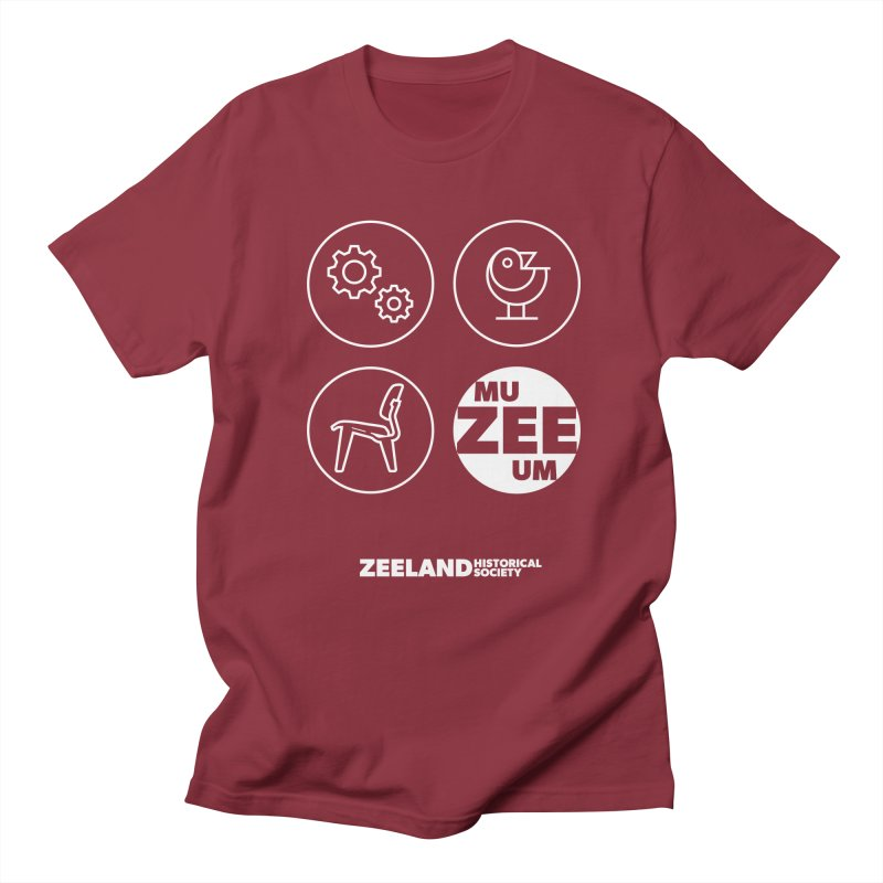 MU-ZEE-UM circles (reversed) Women's Regular Unisex T-Shirt by Zeeland Historical Society's Online Store