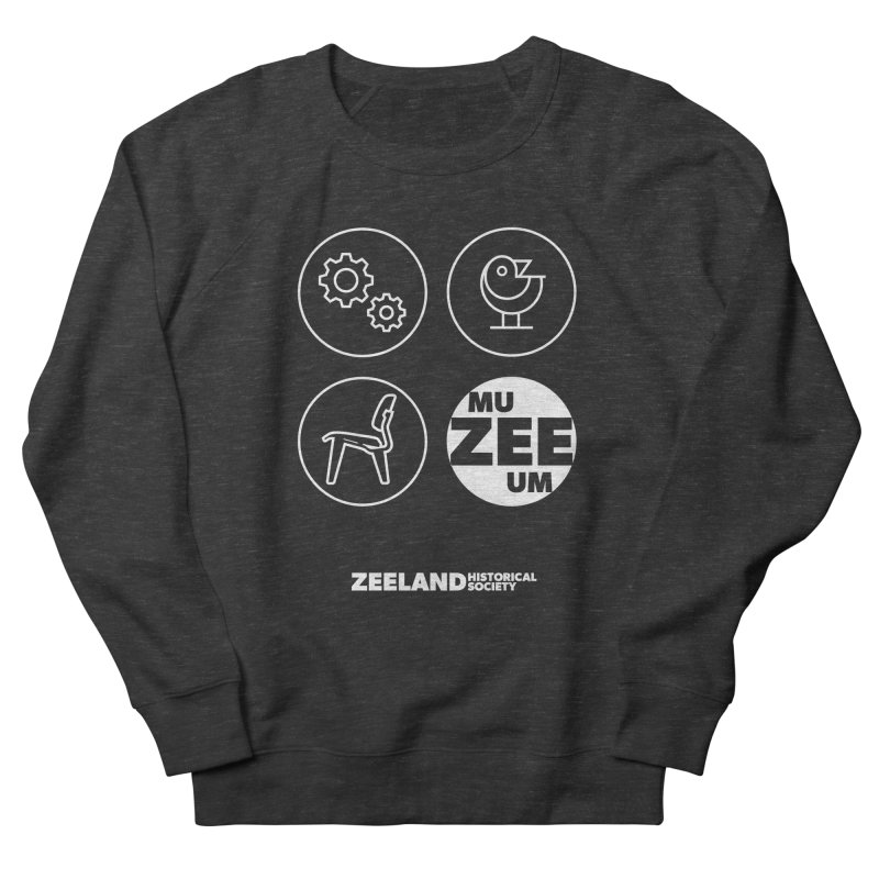 MU-ZEE-UM circles (reversed) Women's French Terry Sweatshirt by Zeeland Historical Society's Online Store