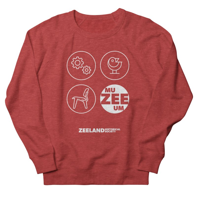 MU-ZEE-UM circles (reversed) Women's French Terry Sweatshirt by Zeeland Historical Society's Online Store