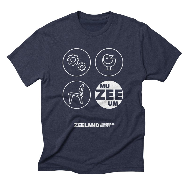 MU-ZEE-UM circles (reversed) Men's Triblend T-Shirt by Zeeland Historical Society's Online Store