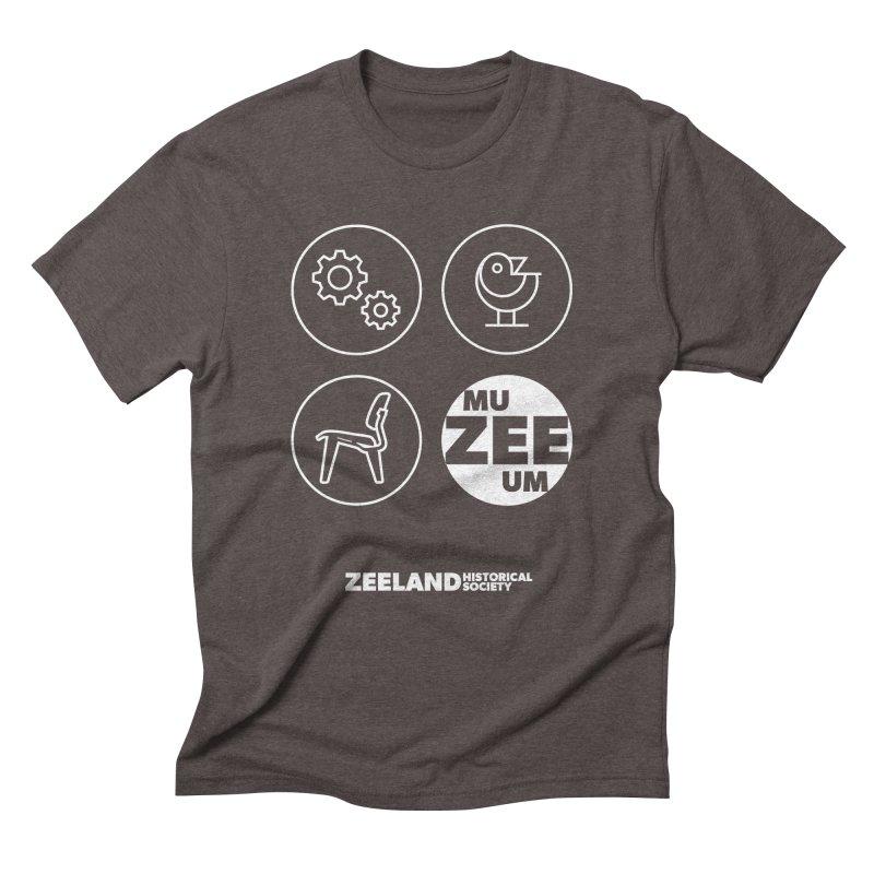 MU-ZEE-UM circles (reversed) Men's Triblend T-Shirt by Zeeland Historical Society's Online Store