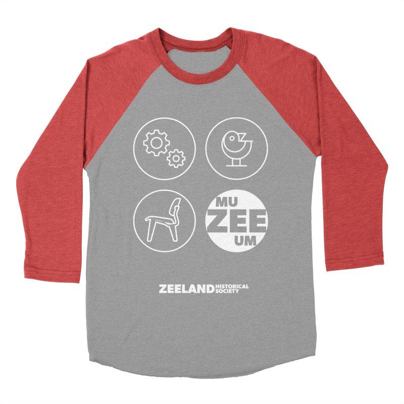 MU-ZEE-UM circles (reversed) Women's Baseball Triblend Longsleeve T-Shirt by Zeeland Historical Society's Online Store