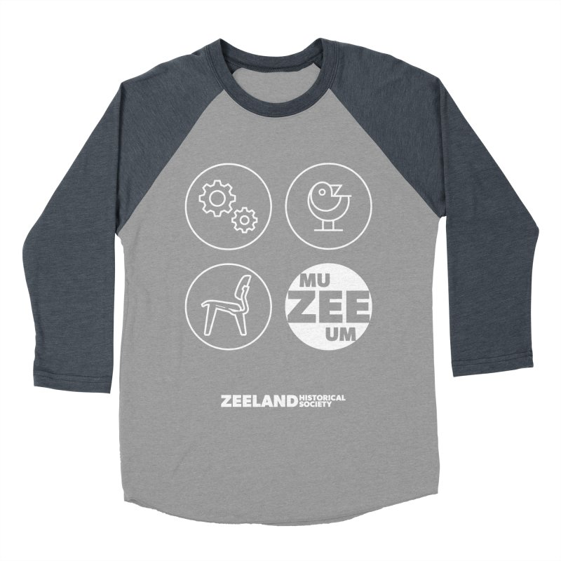 MU-ZEE-UM circles (reversed) Men's Baseball Triblend Longsleeve T-Shirt by Zeeland Historical Society's Online Store