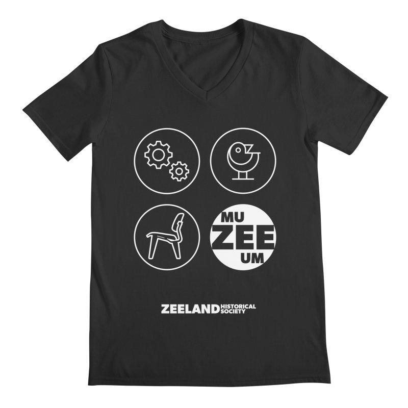 MU-ZEE-UM circles (reversed) Men's Regular V-Neck by Zeeland Historical Society's Online Store