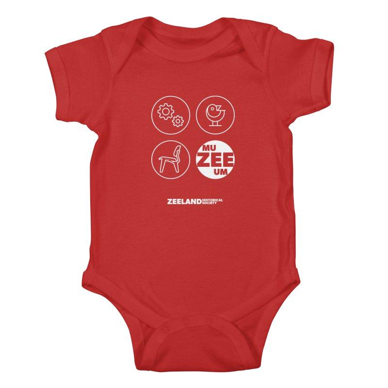 MU-ZEE-UM circles (reversed) Kids Baby Bodysuit by Zeeland Historical Society's Online Store