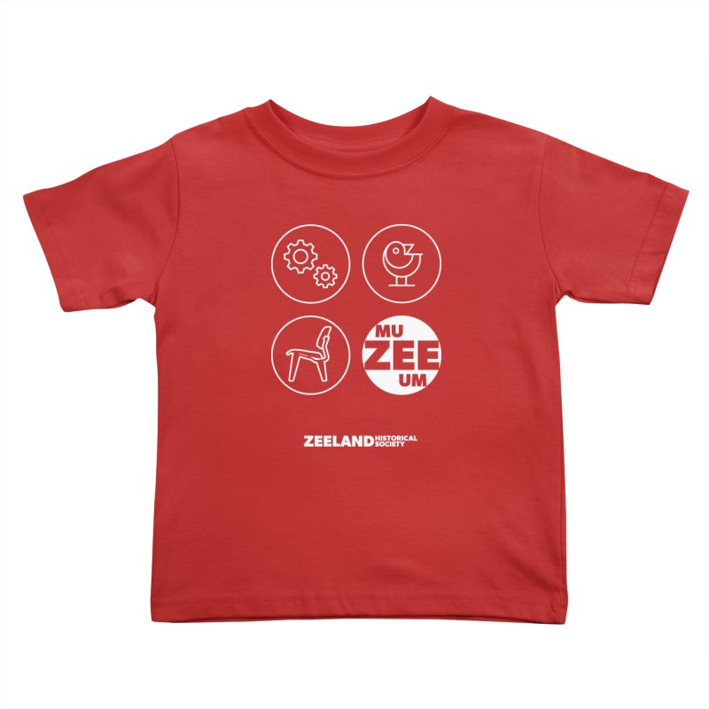 MU-ZEE-UM circles (reversed) Kids Toddler T-Shirt by Zeeland Historical Society's Online Store