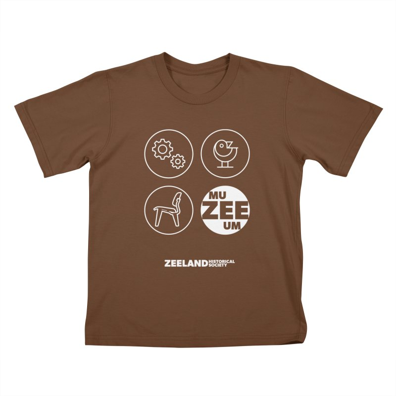 MU-ZEE-UM circles (reversed) Kids T-Shirt by Zeeland Historical Society's Online Store