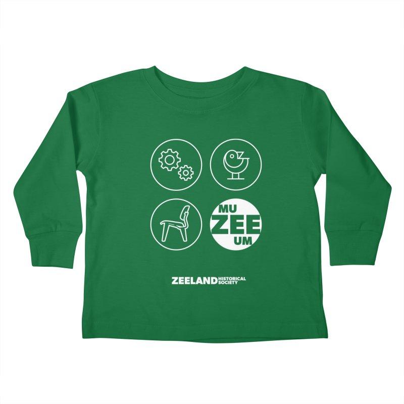 MU-ZEE-UM circles (reversed) Kids Toddler Longsleeve T-Shirt by Zeeland Historical Society's Online Store