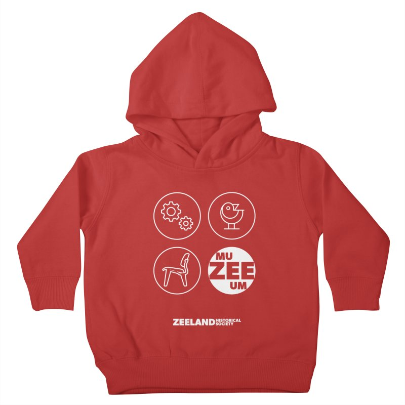 MU-ZEE-UM circles (reversed) Kids Toddler Pullover Hoody by Zeeland Historical Society's Online Store