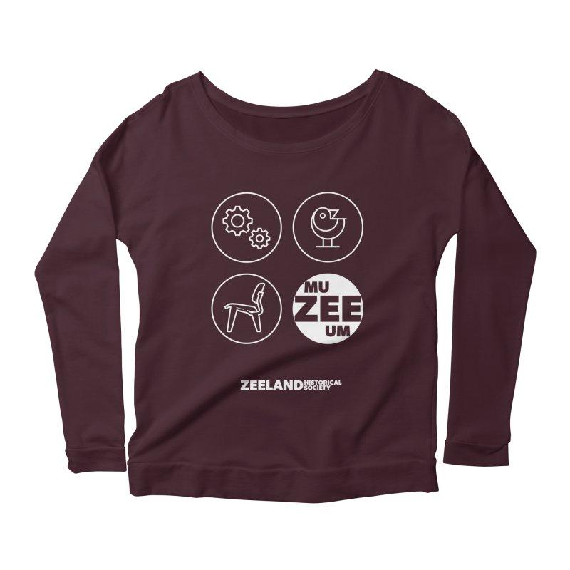 MU-ZEE-UM circles (reversed) Women's Scoop Neck Longsleeve T-Shirt by Zeeland Historical Society's Online Store