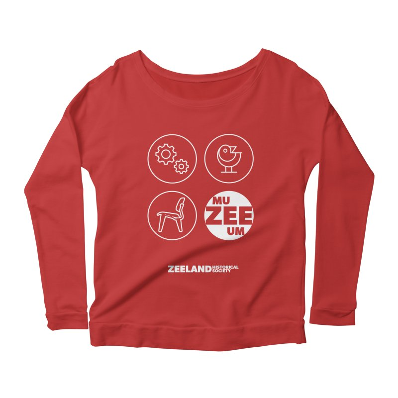 MU-ZEE-UM circles (reversed) Women's Scoop Neck Longsleeve T-Shirt by Zeeland Historical Society's Online Store