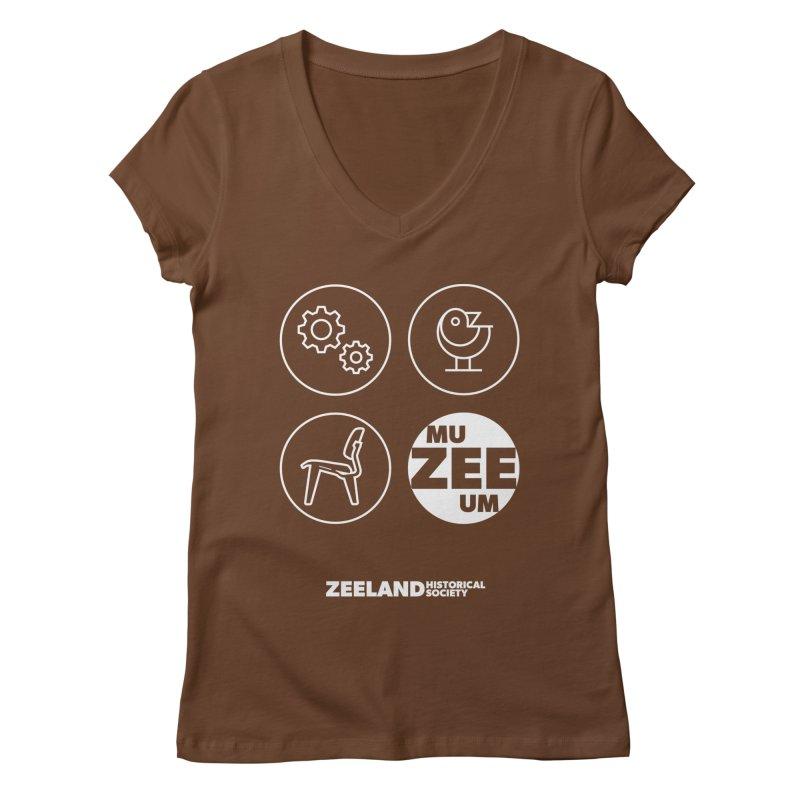 MU-ZEE-UM circles (reversed) Women's Regular V-Neck by Zeeland Historical Society's Online Store