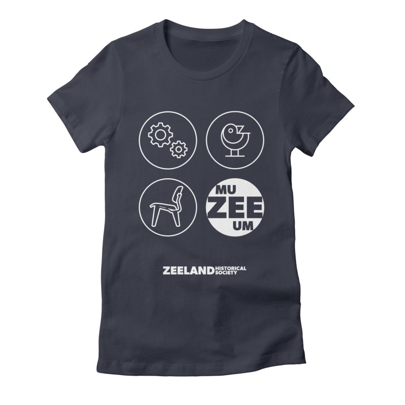MU-ZEE-UM circles (reversed) Women's Fitted T-Shirt by Zeeland Historical Society's Online Store