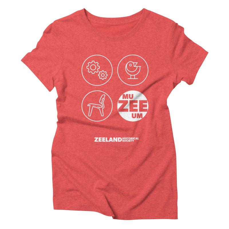 MU-ZEE-UM circles (reversed) Women's Triblend T-Shirt by Zeeland Historical Society's Online Store