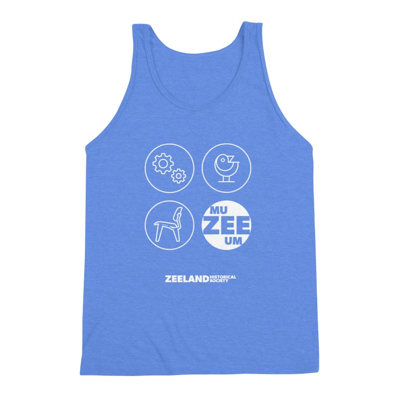 MU-ZEE-UM circles (reversed) Men's Triblend Tank by Zeeland Historical Society's Online Store