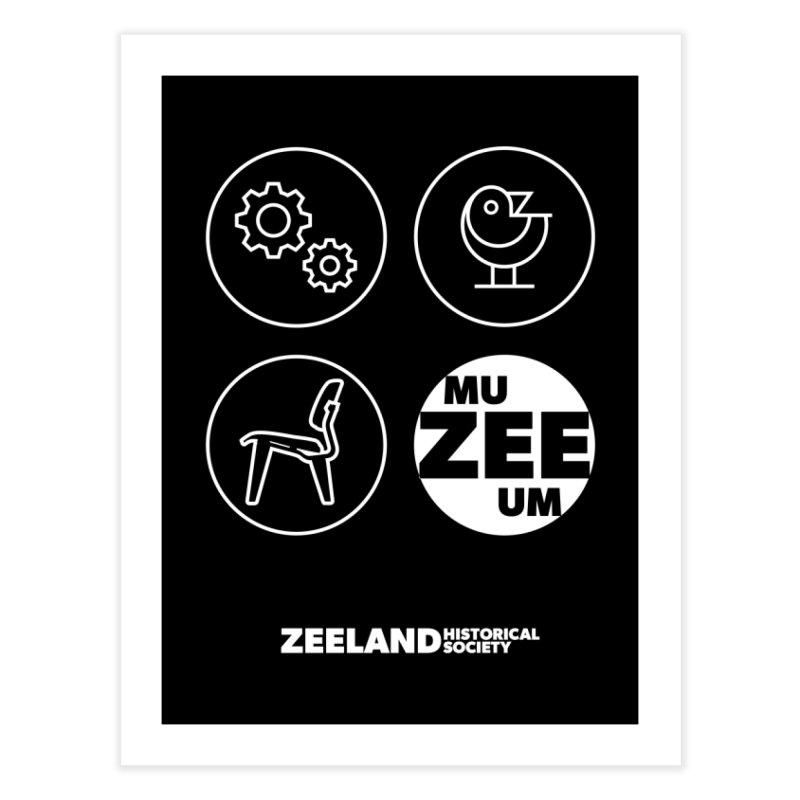 MU-ZEE-UM circles (reversed) Home Fine Art Print by Zeeland Historical Society's Online Store