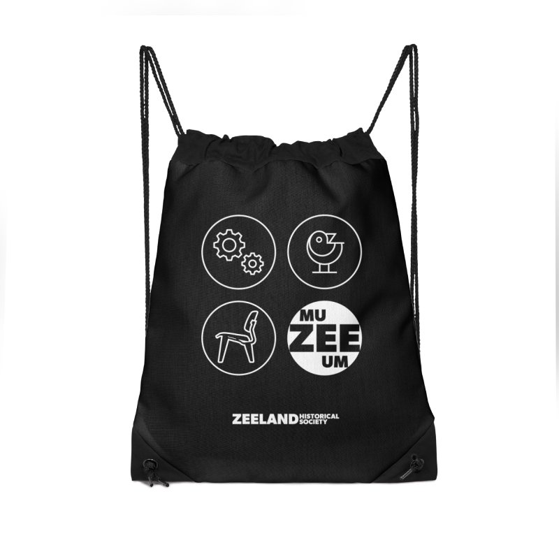 MU-ZEE-UM circles (reversed) Accessories Drawstring Bag Bag by Zeeland Historical Society's Online Store