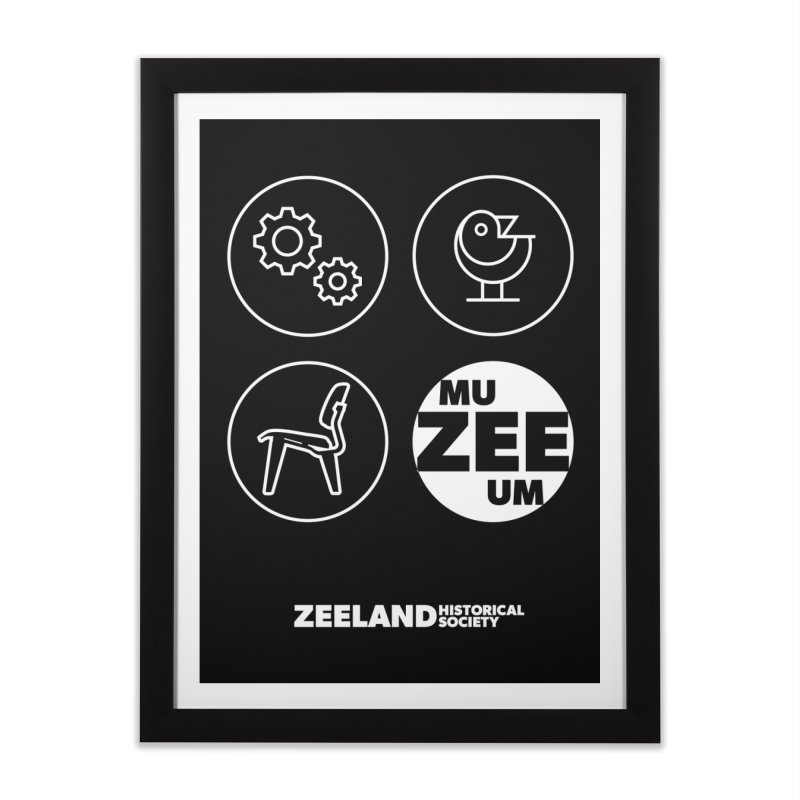 MU-ZEE-UM circles (reversed) Home Framed Fine Art Print by Zeeland Historical Society's Online Store