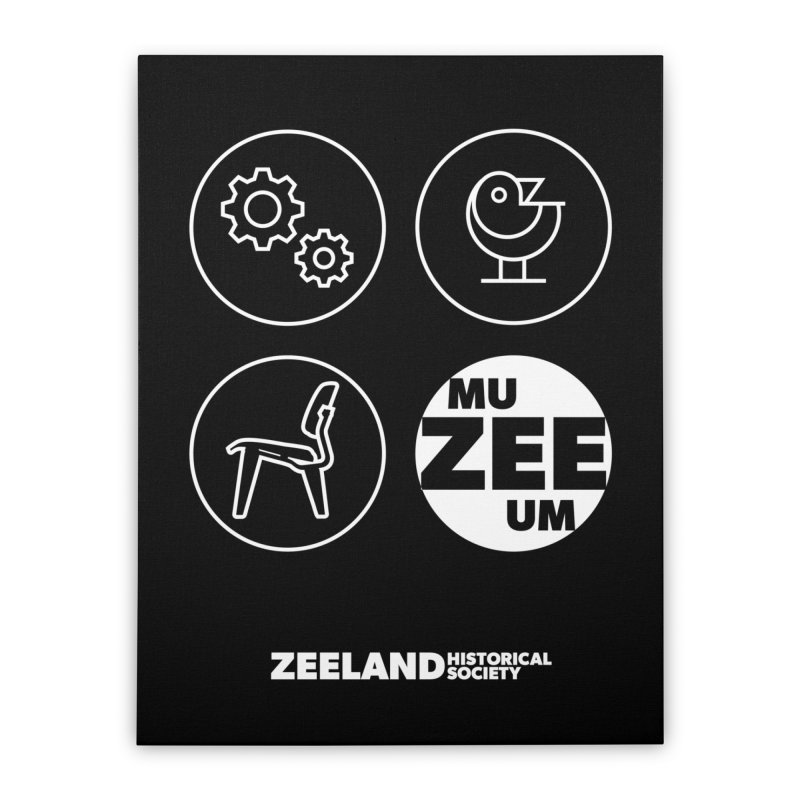 MU-ZEE-UM circles (reversed) Home Stretched Canvas by Zeeland Historical Society's Online Store