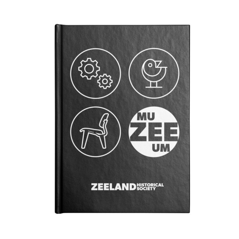 MU-ZEE-UM circles (reversed) Accessories Blank Journal Notebook by Zeeland Historical Society's Online Store