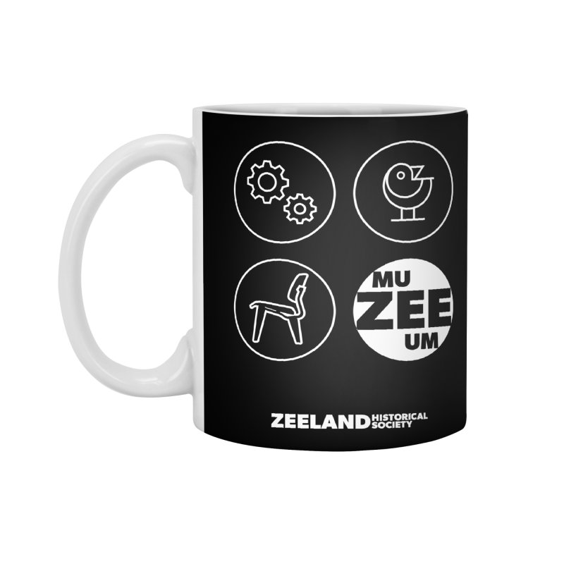 MU-ZEE-UM circles (reversed) Accessories Standard Mug by Zeeland Historical Society's Online Store