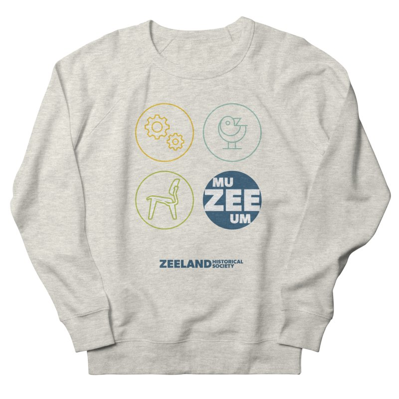 MU-ZEE-UM circles Women's French Terry Sweatshirt by Zeeland Historical Society's Online Store