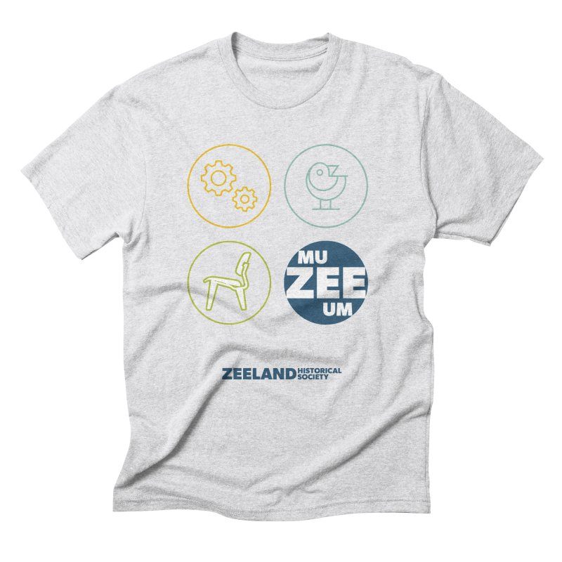 MU-ZEE-UM circles Men's Triblend T-Shirt by Zeeland Historical Society's Online Store