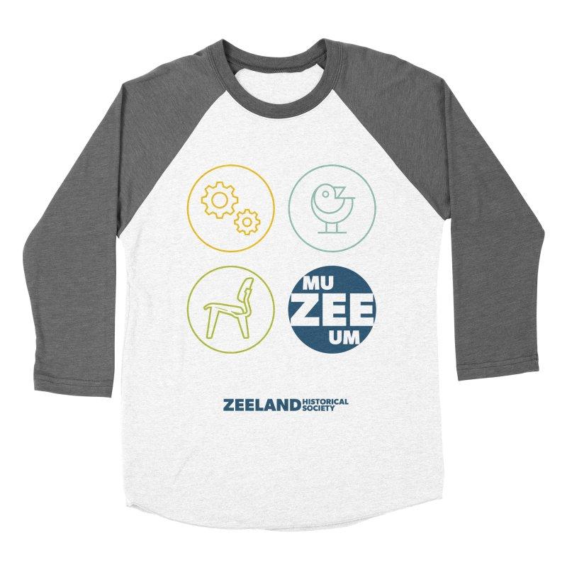 MU-ZEE-UM circles Women's Baseball Triblend Longsleeve T-Shirt by Zeeland Historical Society's Online Store