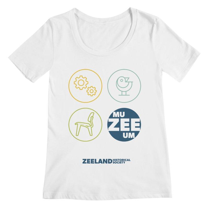 MU-ZEE-UM circles Women's Regular Scoop Neck by Zeeland Historical Society's Online Store