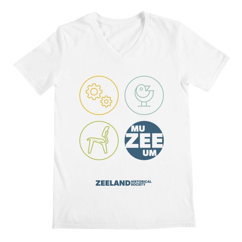 MU-ZEE-UM circles Men's Regular V-Neck by Zeeland Historical Society's Online Store