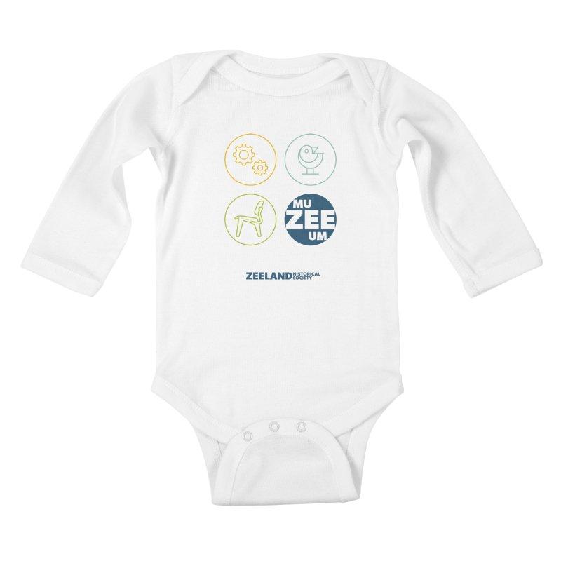 MU-ZEE-UM circles Kids Baby Longsleeve Bodysuit by Zeeland Historical Society's Online Store