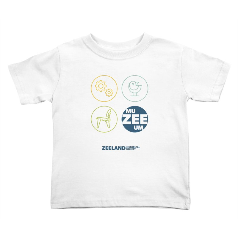 MU-ZEE-UM circles Kids Toddler T-Shirt by Zeeland Historical Society's Online Store