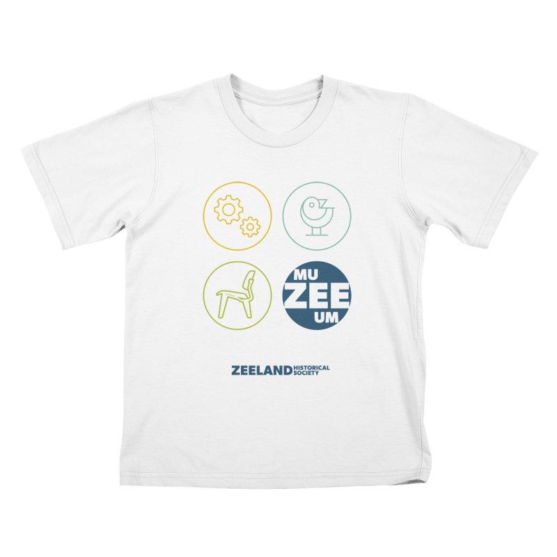 MU-ZEE-UM circles Kids T-Shirt by Zeeland Historical Society's Online Store