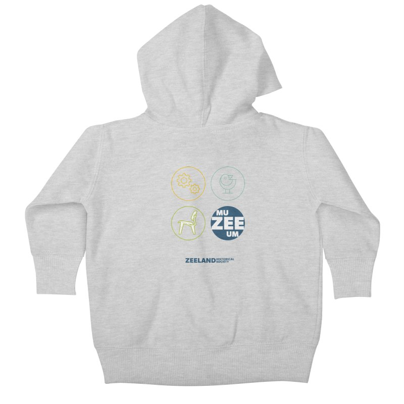 MU-ZEE-UM circles Kids Baby Zip-Up Hoody by Zeeland Historical Society's Online Store