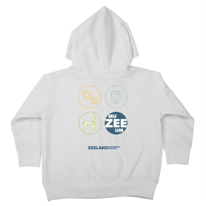 MU-ZEE-UM circles Kids Toddler Zip-Up Hoody by Zeeland Historical Society's Online Store