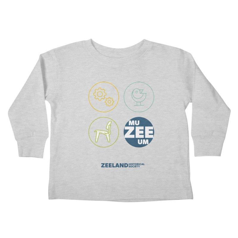 MU-ZEE-UM circles Kids Toddler Longsleeve T-Shirt by Zeeland Historical Society's Online Store