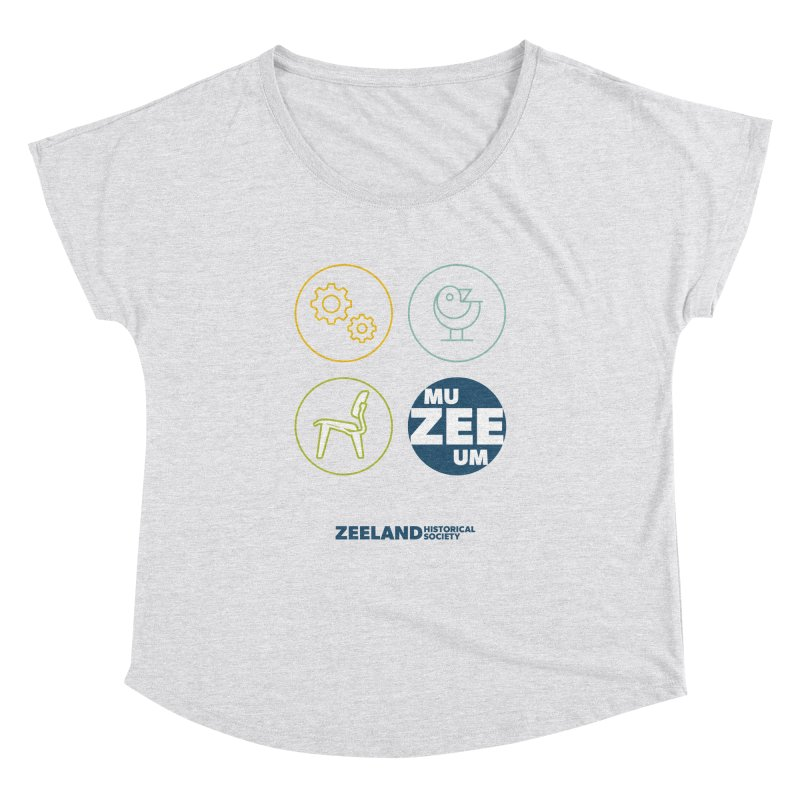 MU-ZEE-UM circles Women's Dolman Scoop Neck by Zeeland Historical Society's Online Store