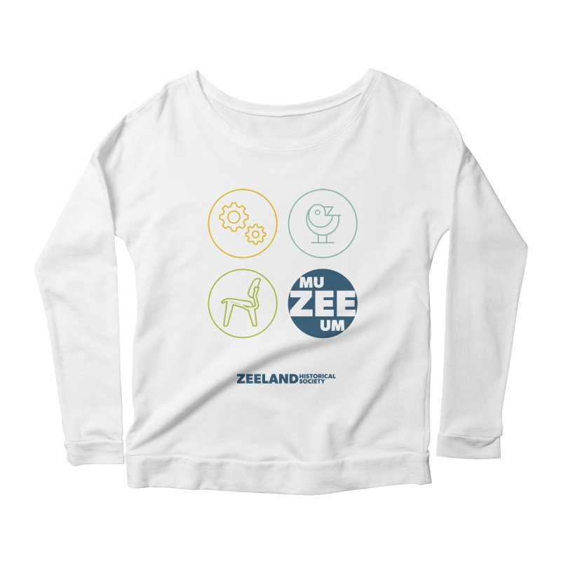 MU-ZEE-UM circles Women's Scoop Neck Longsleeve T-Shirt by Zeeland Historical Society's Online Store