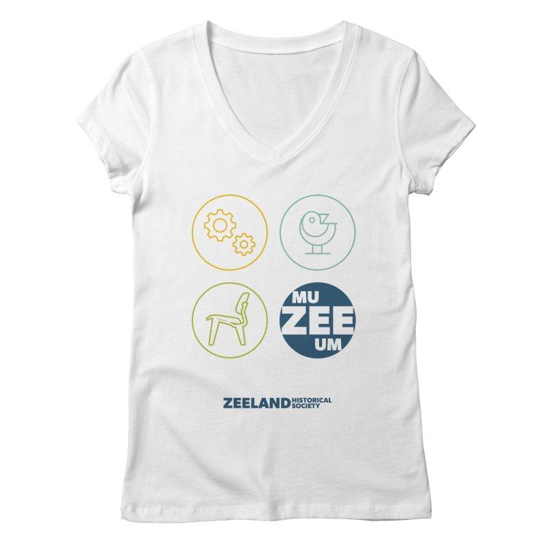MU-ZEE-UM circles Women's Regular V-Neck by Zeeland Historical Society's Online Store