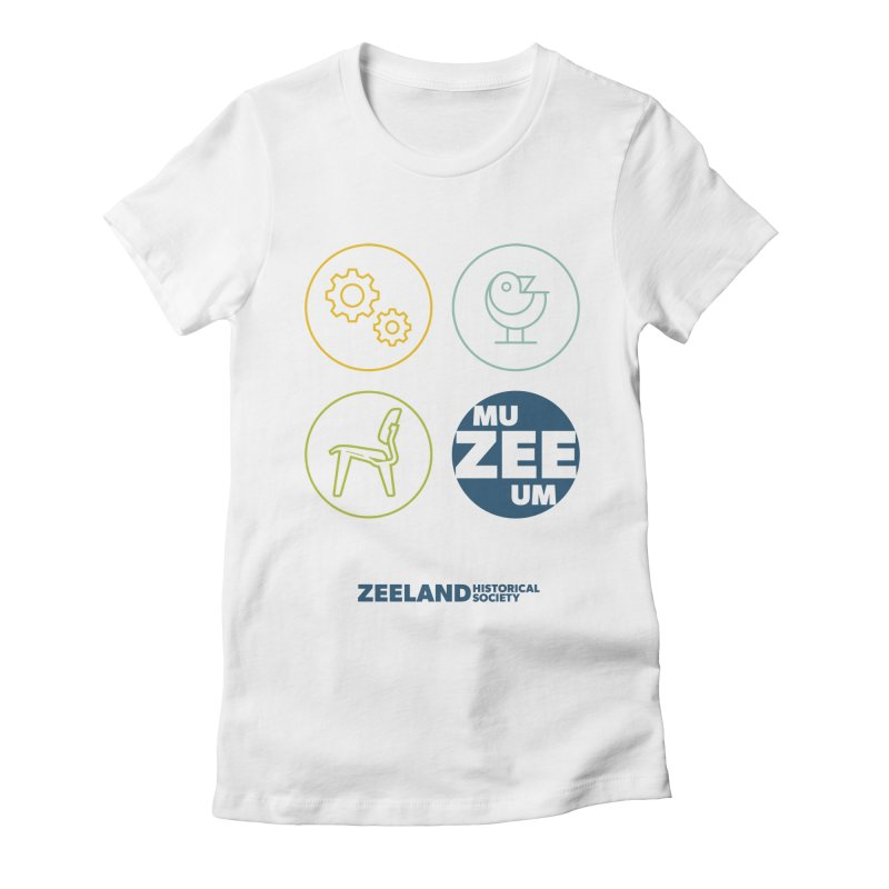 MU-ZEE-UM circles Women's Fitted T-Shirt by Zeeland Historical Society's Online Store
