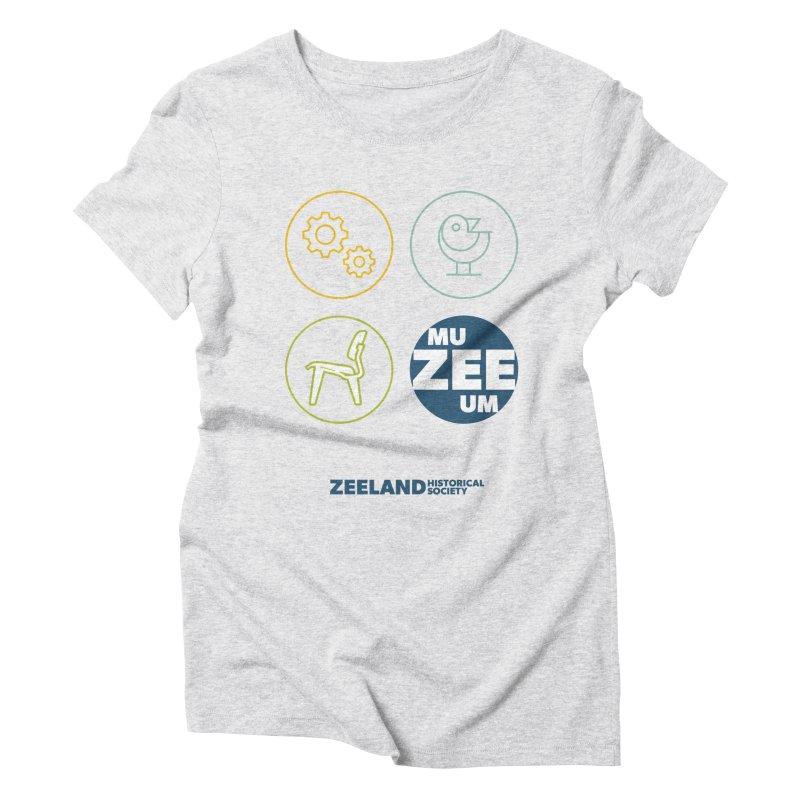 MU-ZEE-UM circles Women's Triblend T-Shirt by Zeeland Historical Society's Online Store
