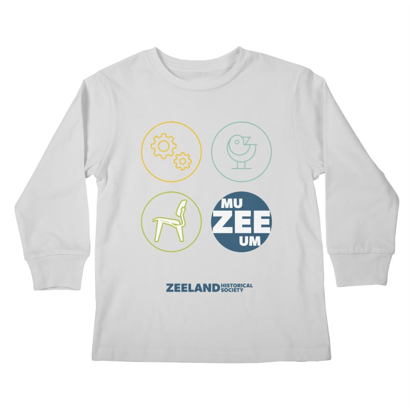 MU-ZEE-UM circles Kids Longsleeve T-Shirt by Zeeland Historical Society's Online Store