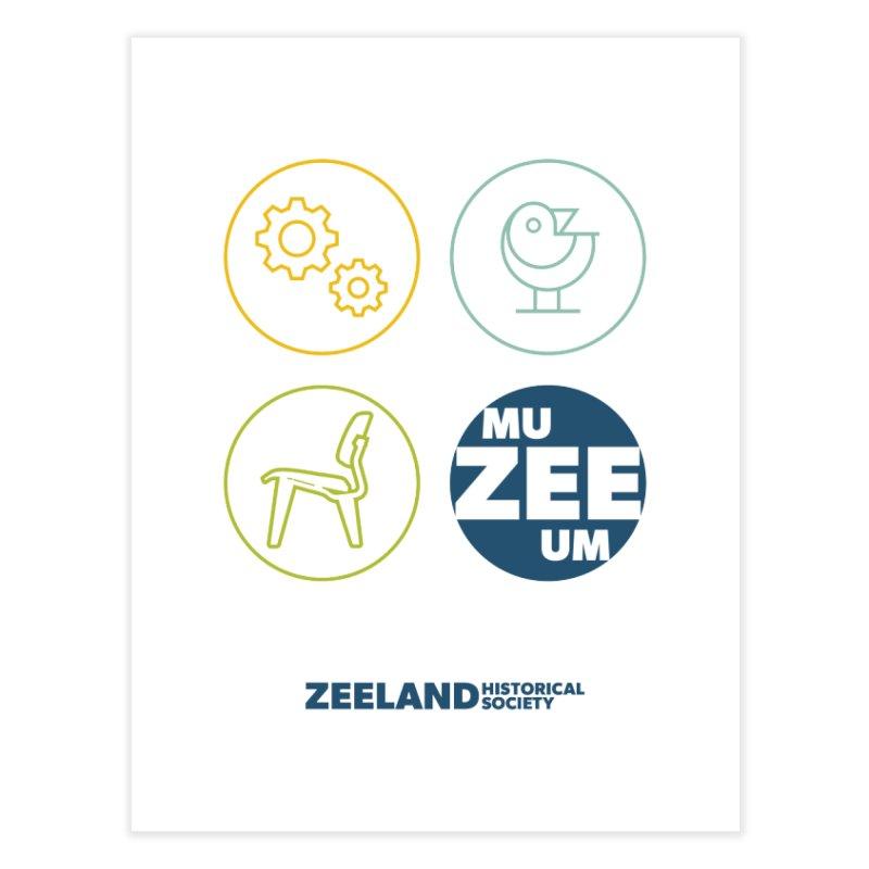 MU-ZEE-UM circles Home Fine Art Print by Zeeland Historical Society's Online Store