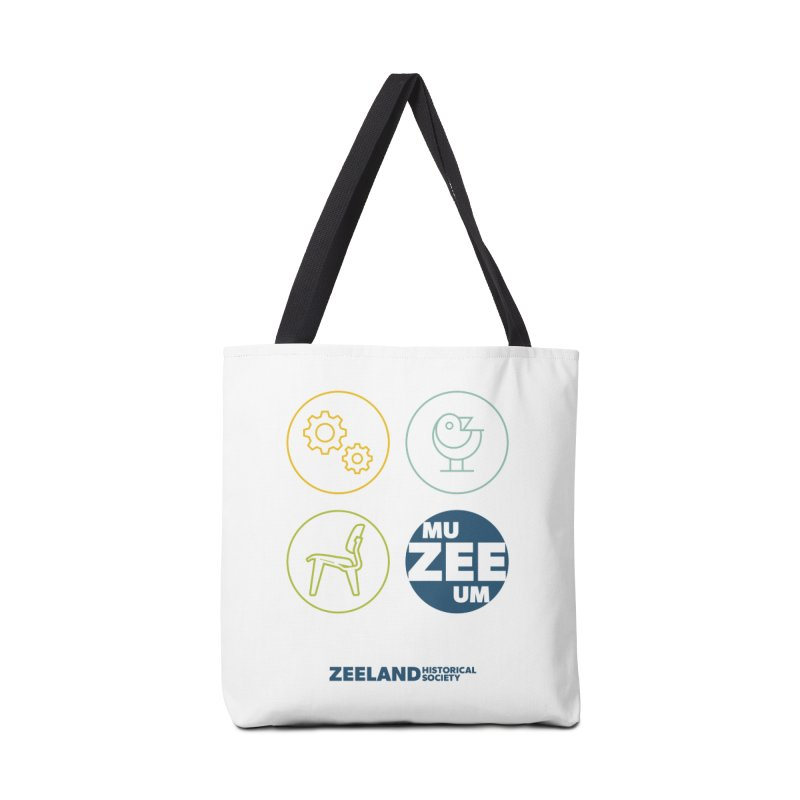 MU-ZEE-UM circles Accessories Tote Bag Bag by Zeeland Historical Society's Online Store