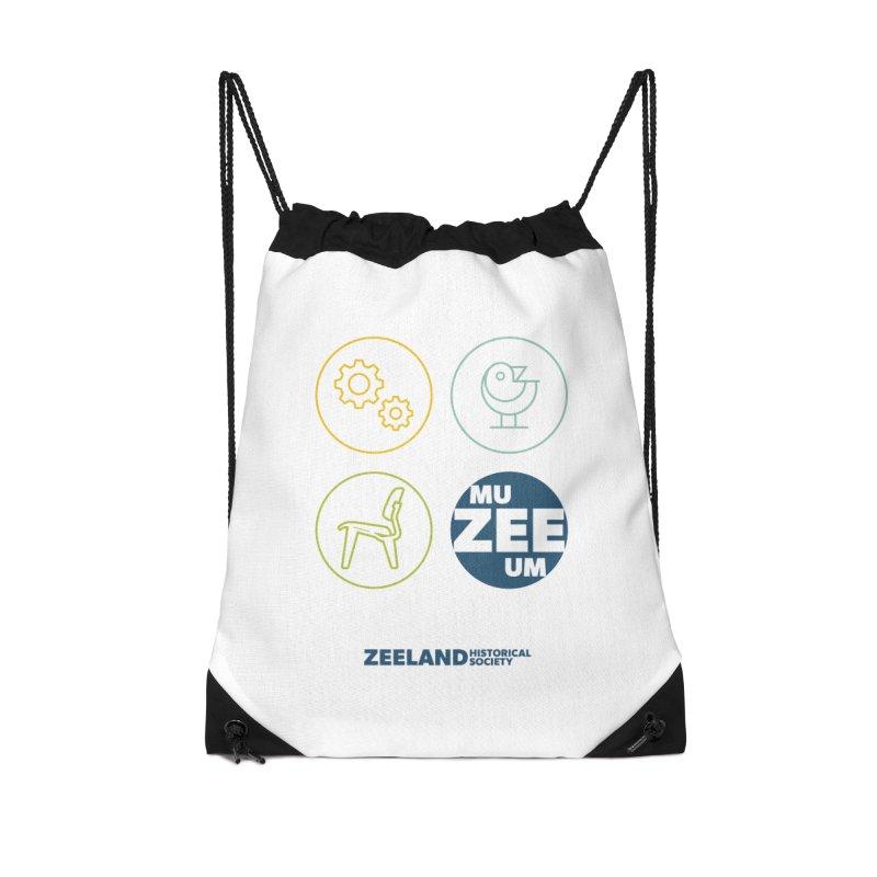 MU-ZEE-UM circles Accessories Drawstring Bag Bag by Zeeland Historical Society's Online Store
